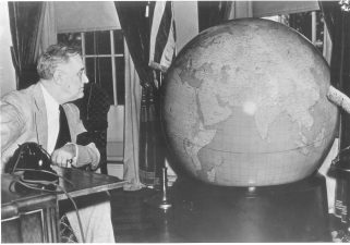 FDR Looking at Globe FDRL