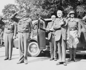 Patton McCloy Stimson saluting NARA